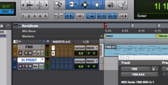 Recording Virtual Instruments as Audio In Pro Tools