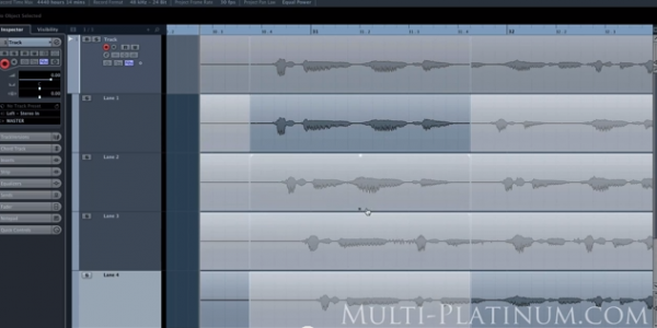 Comping Tracks in Cubase 7.5